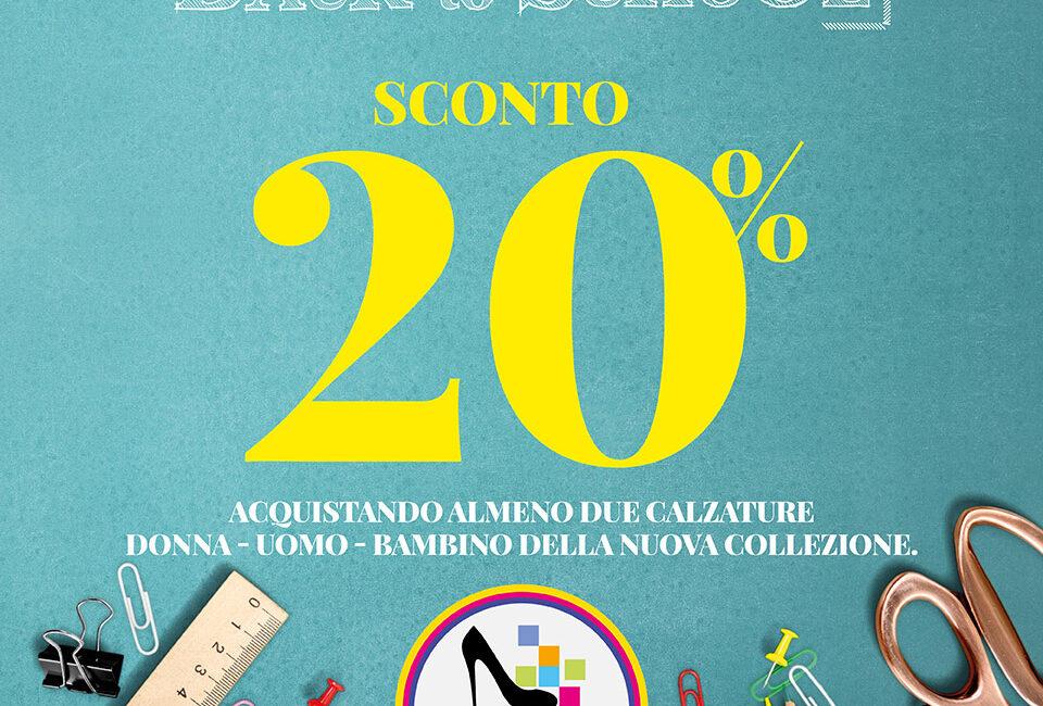 Scarpe&Scarpe: PROMO back to school 20% acquistando almeno due calzature dal 10 al 13 settembre 2021.